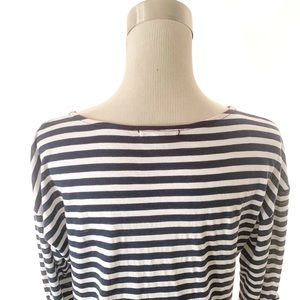 Pleione Tops - Pleione Striped Pullover Crewneck Shirt (M)